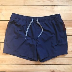 Frank and Oak Color-blocked Short Swim Trunks